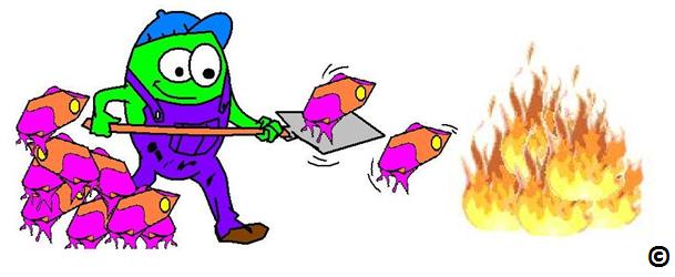 burning fuel