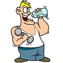 body builider drinking milk