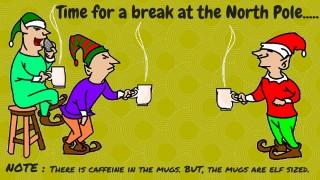 Elves taking a coffee break
