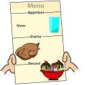 serve water as an appetizer