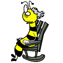 old bee in a rocking chair