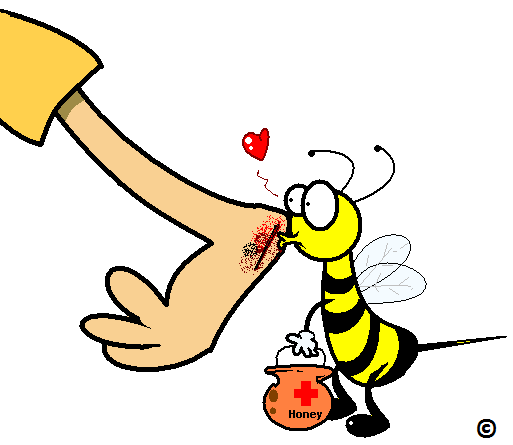 wound being kissed by a bee