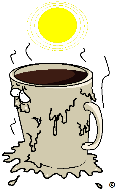 coffee melting in the sun
