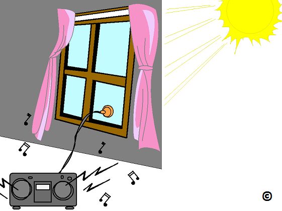 solar power shining through a window