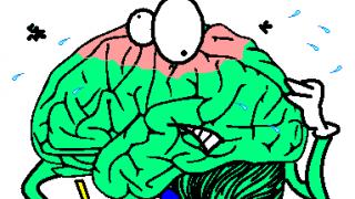 maths anxiety causing a brain pain