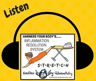 Listen to how stretching resolves inflammation