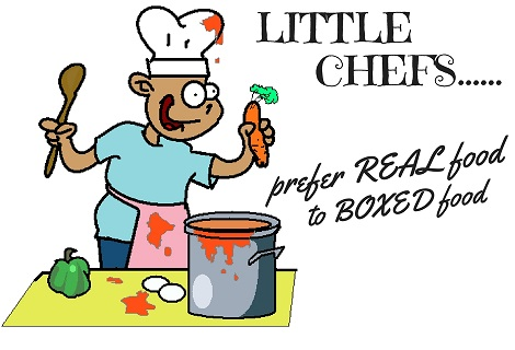 a little chef cooking