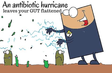 antibiotic causing decimation