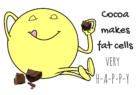 cocoa making fat cell happy