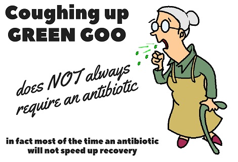 lady coughing up green phlegm