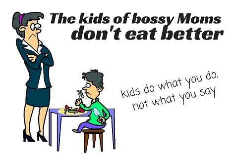 bossy mom ordering vegetable eating