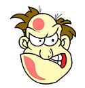 aggressive face