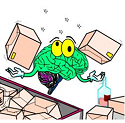 brain juggling parcels with a little alcohol