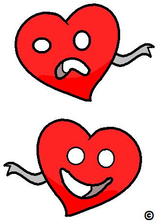 happy heart sad heart