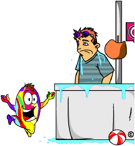 being dunked at the nuclear accumbens fair