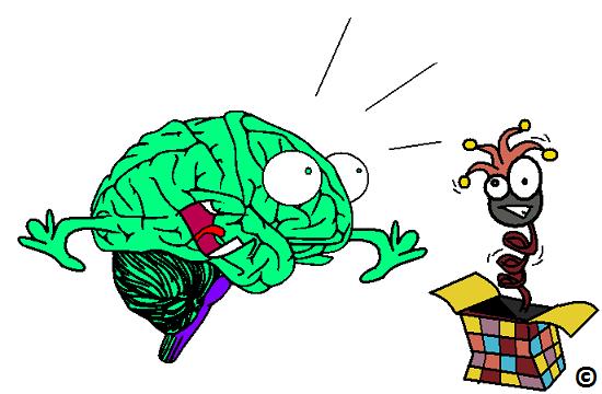 brain being surprised