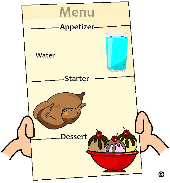 serve water as an apptetizer