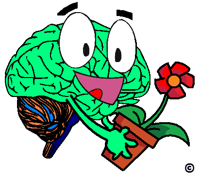 brain embracing its pet geranium