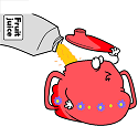 fat sippy cup drinking juice