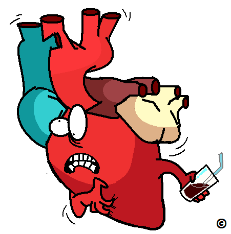 heart in pain following sugary drink