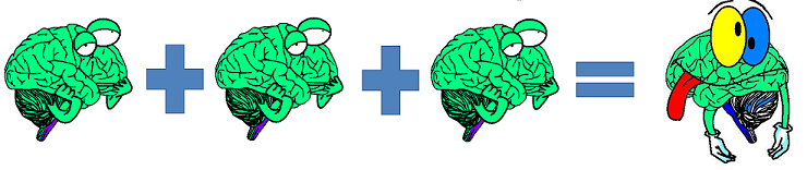 three brains make a wrong
