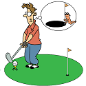 Giant golf hole ensures you sink the putt