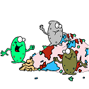 bacteria feasting in the gut
