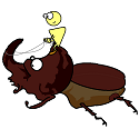 insulin riding a rhino beetle