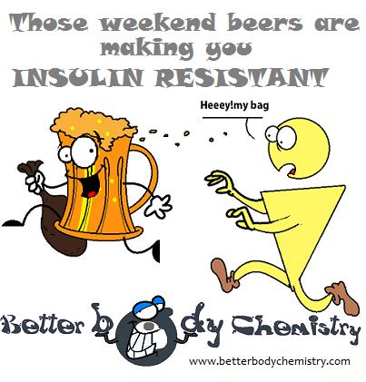beer mug tormenting insulin