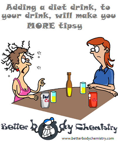 diet coldrinks and alcohol