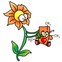 caffeine being gifted by a flower tn