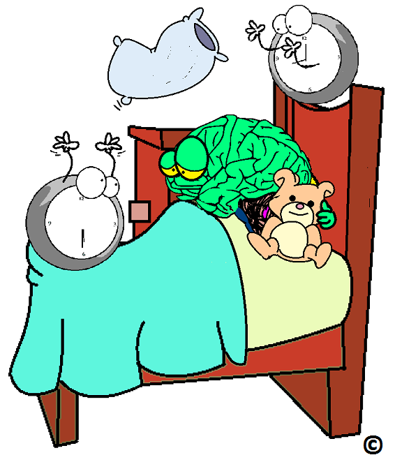 different bed times creating a little brain mischief
