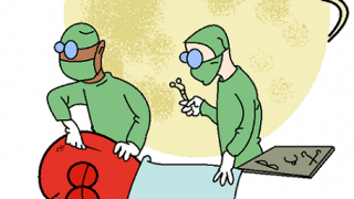 moon supervising heart surgery