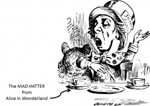 mad as a hatter from alice in wonderland