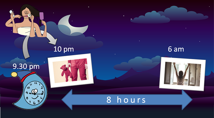 setting up a bedtime alarm