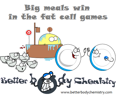 big meals win in the face cell games