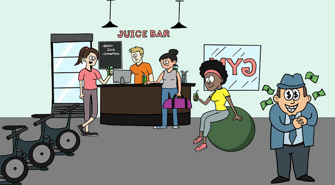 the juice bar at the gym