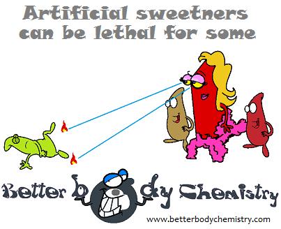 artificial sweetner killing off a bacteria
