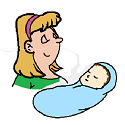 mom savouring newborn scent