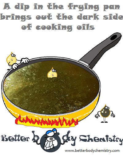 cooking oil being damaged by high temperature cooking
