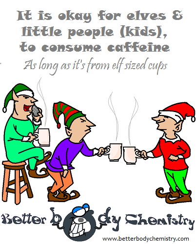 elves drinking caffeine from elf sized cups