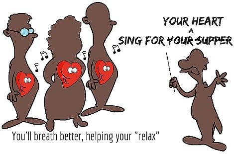 singing in choir helps heart