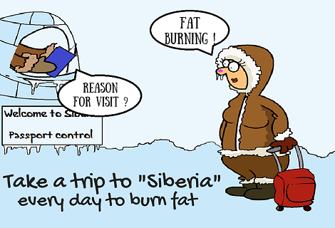 Going to Siberia to burn fat