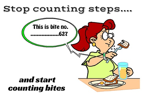 women counting bites