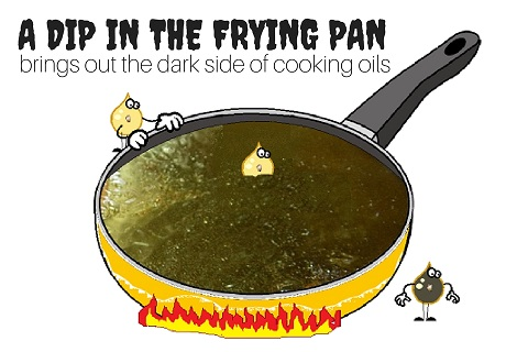 oil being damaged in a frying pan