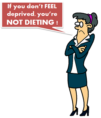 dieting is supposed to be hard