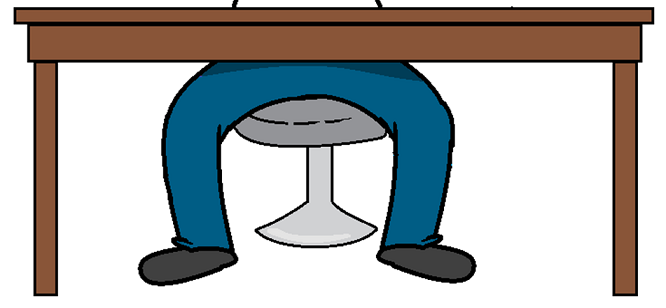 legs not moving under a desk