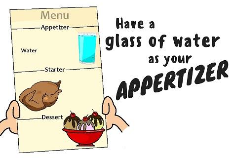water appertizer