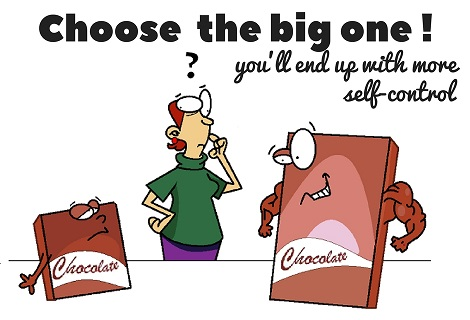 choose the big chocolate