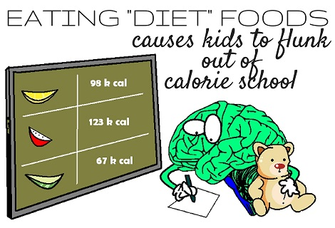 baby brain flunking out of calorie school